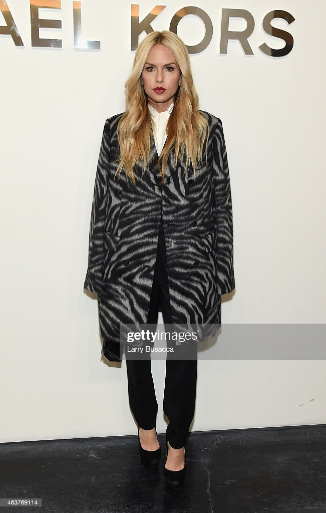 Designer Rachel Zoe poses backstage at the Michael Kors fashion show during MercedesBenz Fashion Week Fall 2015 at Spring Studios on February 18 2015...