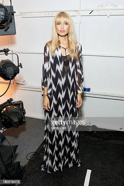 Designer Rachel Zoe poses backstage at the Rachel Zoe fashion show during MercedesBenz Fashion Week Spring 2014 at The Studio at Lincoln Center on...