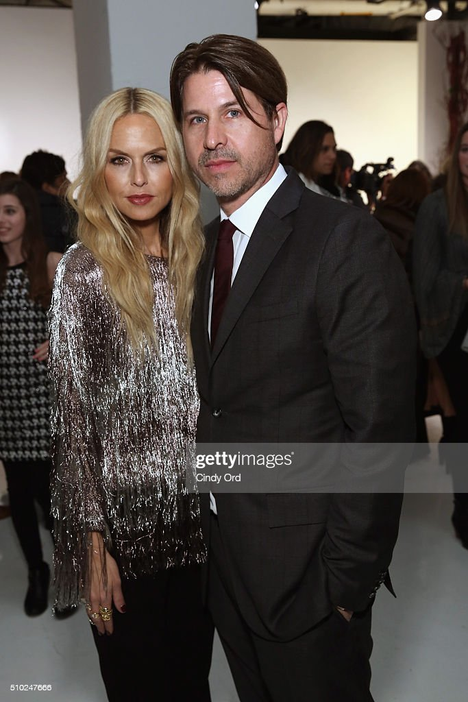 Designer, Rachel Zoe poses with Rodger Bierman at the Rachel Zoe A/W16 Presentation with hair by TRESemme during New York Fashion Week: The Shows at The Space, Skylight at Clarkson Sq on February 14, 2016 in New York City.