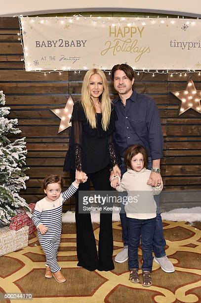 Designer Rachel Zoe Rodger Berman and children attend the Baby2Baby Holiday Party Presented By Tiny Prints At Montage Beverly Hills on December 6...