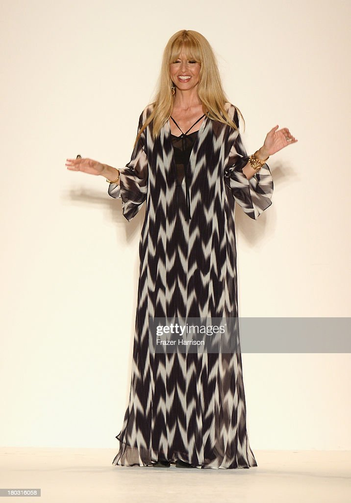 Designer Rachel Zoe walks the runway at the Rachel Zoe fashion show during Mercedes-Benz Fashion Week Spring 2014 at The Studio at Lincoln Center on September 11, 2013 in New York City.