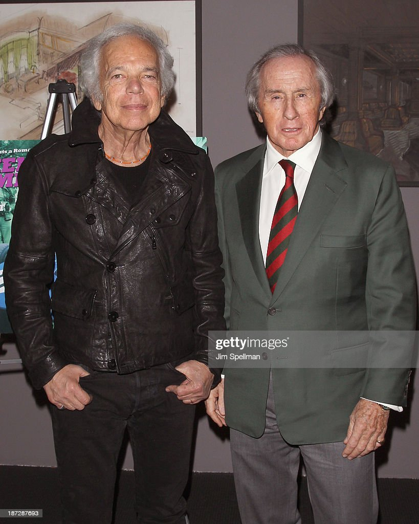Designer <a gi-track='captionPersonalityLinkClicked' href=/galleries/search?phrase=Ralph+Lauren+-+Fashion+Designer&family=editorial&specificpeople=4442108 ng-click='$event.stopPropagation()'>Ralph Lauren</a> and former formula one racing driver Sir <a gi-track='captionPersonalityLinkClicked' href=/galleries/search?phrase=Jackie+Stewart&family=editorial&specificpeople=167276 ng-click='$event.stopPropagation()'>Jackie Stewart</a> attend 'Weekend Of A Champion' Premiere - To Save Project: The 11th MOMA International Festival Of Film Preservation at Museum of Modern Art on November 7, 2013 in New York City.