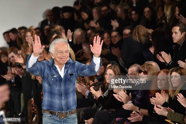 Designer Ralph Lauren at the Ralph Lauren fashion show during MercedesBenz Fashion Week Fall 2015 at Skylight Clarkson SQ on February 19 2015 in New...