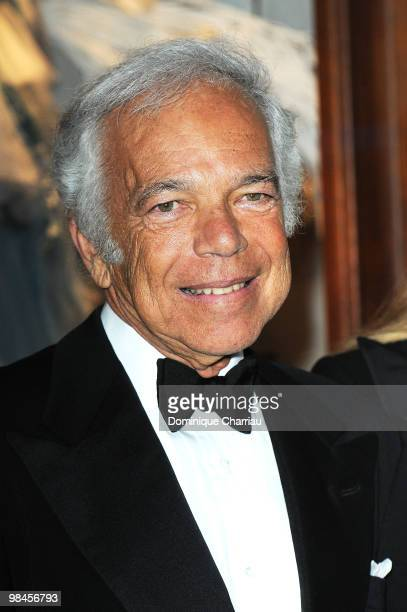 Designer Ralph Lauren attends the Ralph Lauren dinner to celebrate a flagship store opening at Boulevard St Germain on April 14 2010 in Paris France