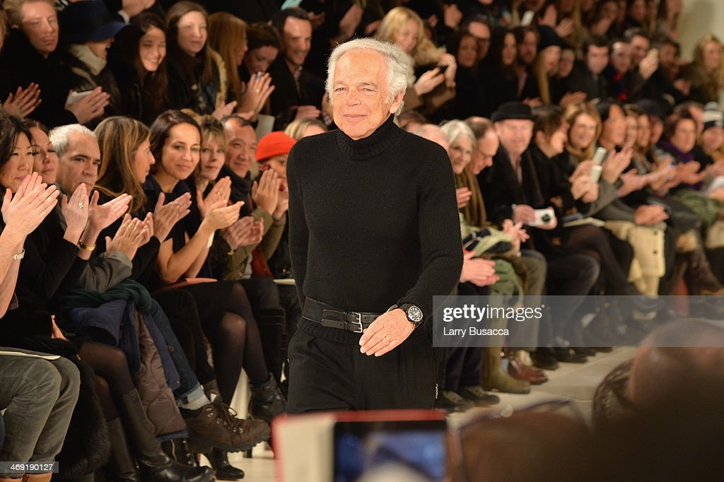 Designer Ralph Lauren attends the Ralph Lauren fashion show during Mercedes-Benz Fashion Week Fall 2014 at St. John Center Studios on February 13, 2014 in New York City.