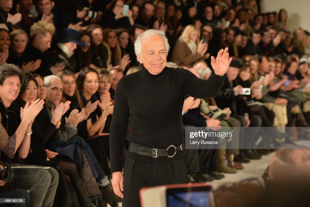 Designer <a gi-track='captionPersonalityLinkClicked' href=/galleries/search?phrase=Ralph+Lauren+-+Fashion+Designer&family=editorial&specificpeople=4442108 ng-click='$event.stopPropagation()'>Ralph Lauren</a> attends the <a gi-track='captionPersonalityLinkClicked' href=/galleries/search?phrase=Ralph+Lauren+-+Fashion+Designer&family=editorial&specificpeople=4442108 ng-click='$event.stopPropagation()'>Ralph Lauren</a> fashion show during Mercedes-Benz Fashion Week Fall 2014 at St. John Center Studios on February 13, 2014 in New York City.