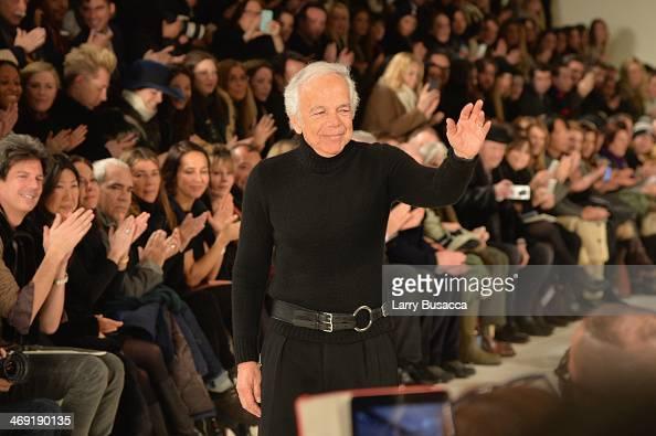 Designer Ralph Lauren attends the Ralph Lauren fashion show during MercedesBenz Fashion Week Fall 2014 at St John Center Studios on February 13 2014...