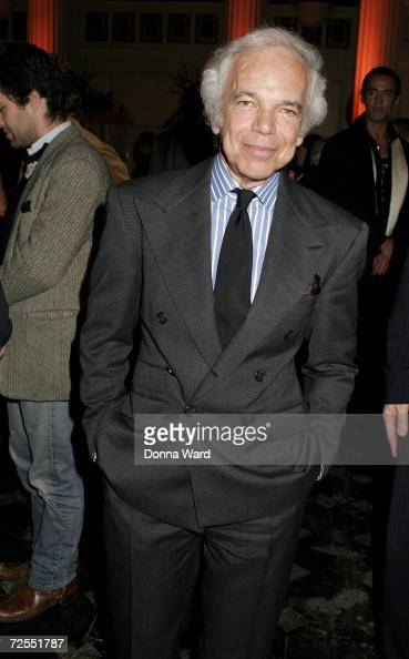 Designer Ralph Lauren poses at the FedEx Corp and CFDA celebration of Stan Herman's 16year CFDA Presidency on Fifth Avenue November 14 2006 in New...