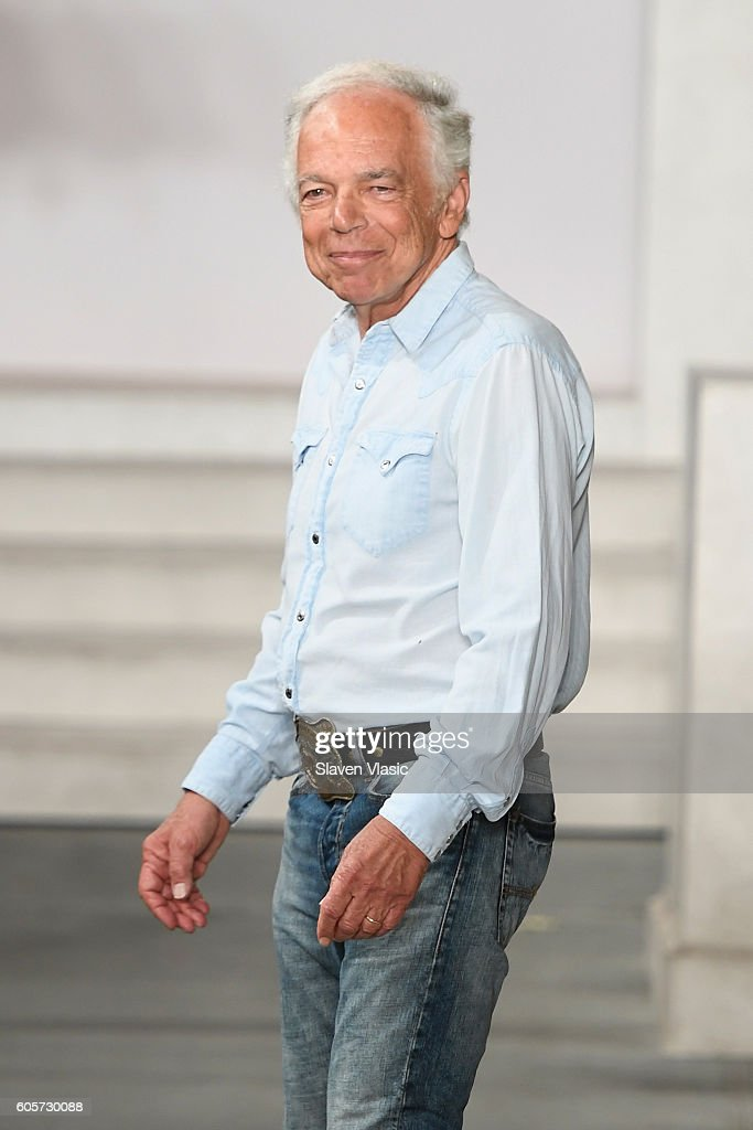 Designer Ralph Lauren walks his finale of the runway at the Ralph Lauren fashion show during