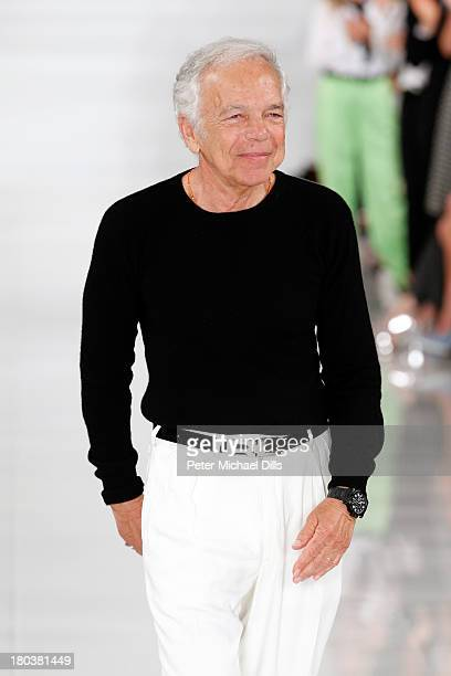 Designer Ralph Lauren walks the runway at the Ralph Lauren fashion show during MercedesBenz Fashion Week Spring 2014 at St John Center Studios on...