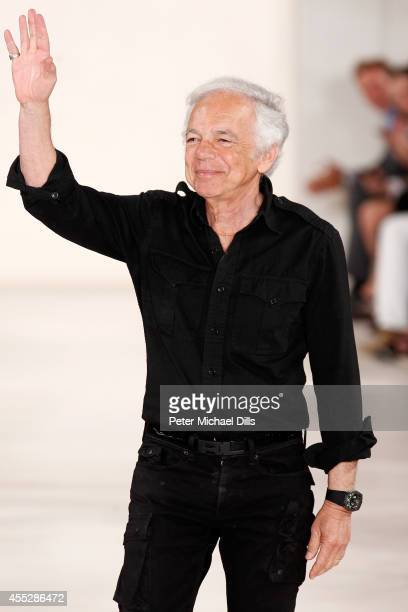 Designer Ralph Lauren walks the runway at the Ralph Lauren fashion show during MercedesBenz Fashion Week Spring 2015 at Skylight Clarkson SQ on...