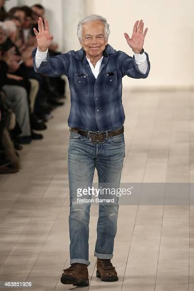Designer Ralph Lauren walks the runway at the Ralph Lauren fashion show during MercedesBenz Fashion Week Fall 2015 at Skylight Clarkson SQ on...