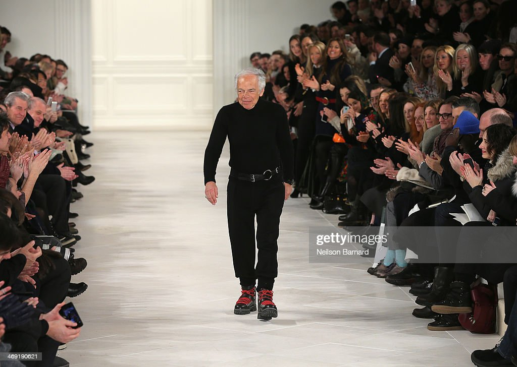 Designer Ralph Lauren walks the runway at the Ralph Lauren fashion show during Mercedes-Benz Fashion Week Fall 2014 at St. John Center Studios on February 13, 2014 in New York City.