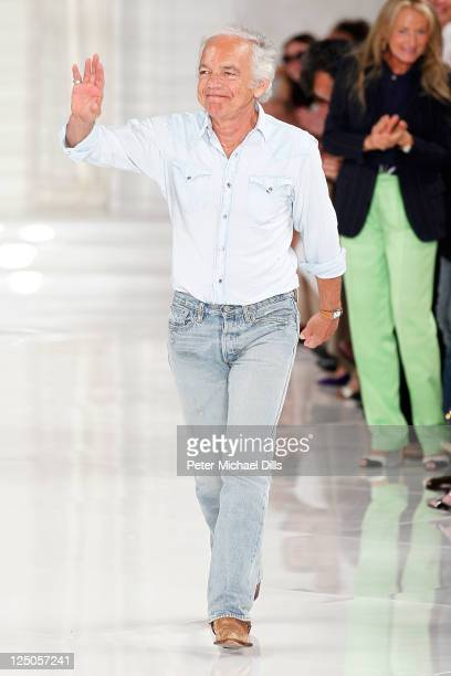 Designer Ralph Lauren walks the runway at the Ralph Lauren Spring 2012 fashion show during MercedesBenz Fashion Week at Skylight Studio on September...
