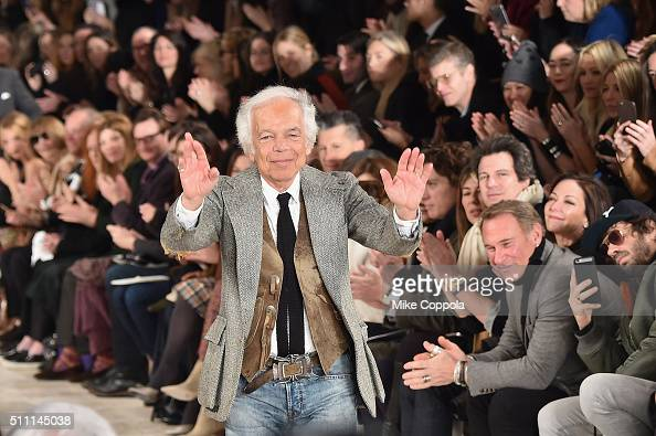 Designer Ralph Lauren walks the runway during the Ralph Lauren Fall 2016 fashion show during New York Fashion Week The Shows at Skylight Clarkson Sq...