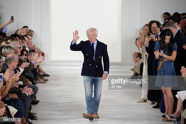 Designer Ralph Lauren walks the runway wearing Ralph Lauren Spring 2016 during New York Fashion Week The Shows at Skylight Clarkson Sq on September...