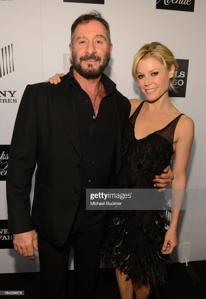 Designer Ralph Rucci (L) and actress Julie Bowen attend the 'Evening Benefitting The L.A. Gay & Lesbian Center Honoring Amy Pascal and Ralph Rucci' at the Beverly Wilshire Four Seasons Hotel on March 21, 2013 in Beverly Hills, California.