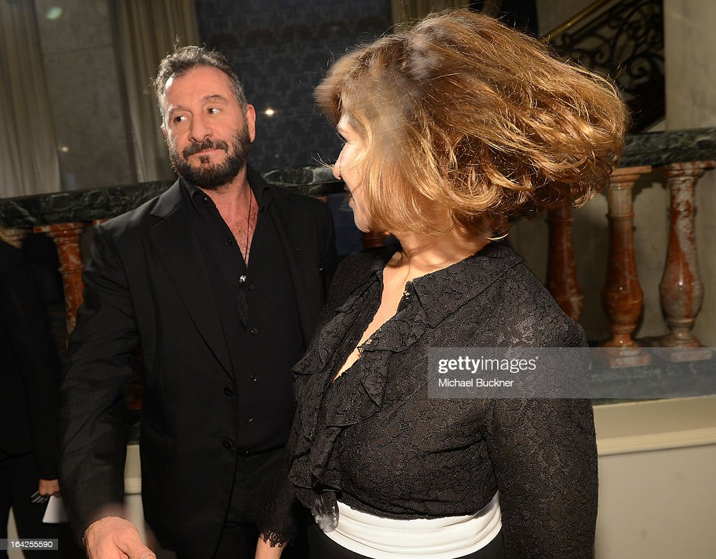 Designer Ralph Rucci (L) and Amy Pascal, Co-Chairman of Sony Pictures, attend the 'Evening Benefitting The L.A. Gay & Lesbian Center Honoring Amy Pascal and Ralph Rucci' at the Beverly Wilshire Four Seasons Hotel on March 21, 2013 in Beverly Hills, California.
