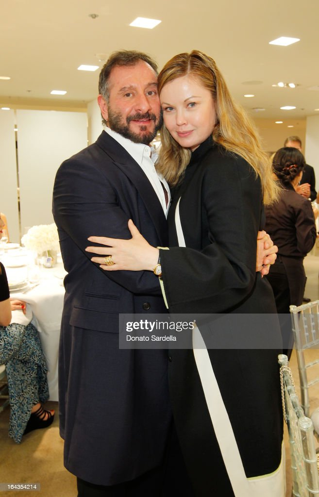 Designer <a gi-track='captionPersonalityLinkClicked' href=/galleries/search?phrase=Ralph+Rucci+-+Fashion+Designer&family=editorial&specificpeople=12460286 ng-click='$event.stopPropagation()'>Ralph Rucci</a> and Tatiana Sorokko attend Saks Fifth Avenue presents designer <a gi-track='captionPersonalityLinkClicked' href=/galleries/search?phrase=Ralph+Rucci+-+Fashion+Designer&family=editorial&specificpeople=12460286 ng-click='$event.stopPropagation()'>Ralph Rucci</a> at Saks Fifth Avenue Beverly Hills on March 22, 2013 in Beverly Hills, California.