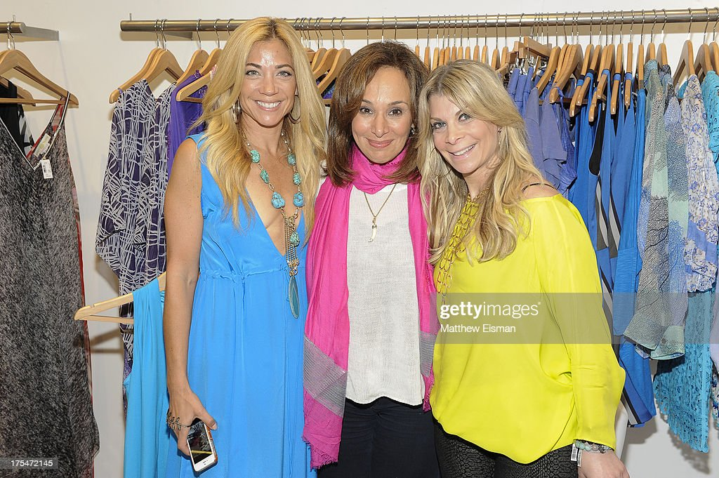 Designer Ramy Sharp (L) and Good Day NY Anchor <a gi-track='captionPersonalityLinkClicked' href=/galleries/search?phrase=Rosanna+Scotto&family=editorial&specificpeople=704122 ng-click='$event.stopPropagation()'>Rosanna Scotto</a> attend Scoop Beach celebrates the Ramy Brook Collection on August 3, 2013 in East Hampton, New York.