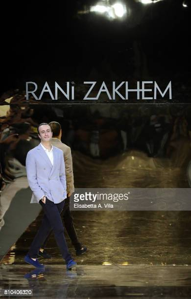 Designer Rani Zakhem walks the runway at Rani Zakhem Fall/Winter 2017/18 fashion show during AltaRoma at Guido Reni District on July 7 2017 in Rome...