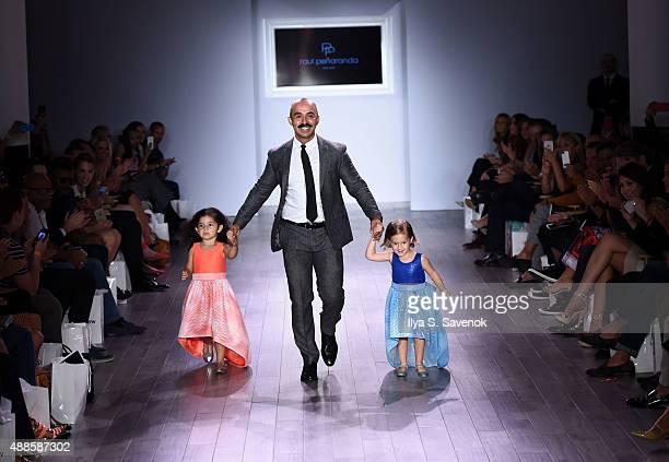Designer Raul Penaranda walks the runway at the Raul Penaranda fashion show during Style360 Spring 2016 at Metropolitan West on September 16 2015 in...