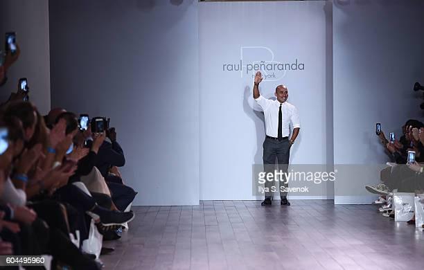 Designer Raul Penaranda walks the runway during Raul Penaranda Runway show during Style360 Fashion Week September 2016 at Metropolitan West on...