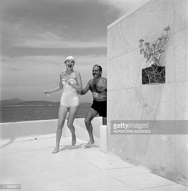 Designer Raymond Loewy on holiday in Southern France with wife Viola In Saint Tropez France In 1960Raymond Loewy and wife Viola in their StTropez...