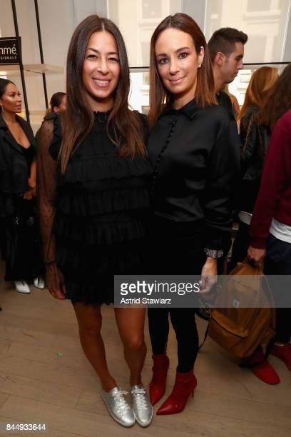Designer Rebecca Minkoff and Blogger Catt Sadler pose backstage for TRESemme at Rebecca Minkoff NYFW during New York Fashion Week on September 9 2017...