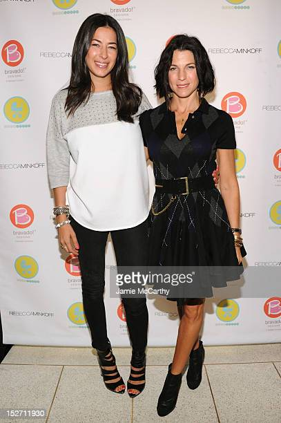 Designer Rebecca Minkoff and Jessica Seinfeld attend Rebecca Minkoff And Bravado Designs Launch A Nursing Tank Benefiting Baby Buggy at Alison...