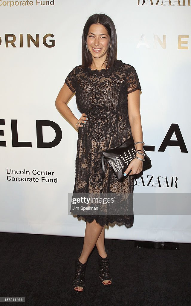 Designer Rebecca Minkoff attends An Evening Honoring Karl Lagerfeld at Alice Tully Hall on November 6, 2013 in New York City.