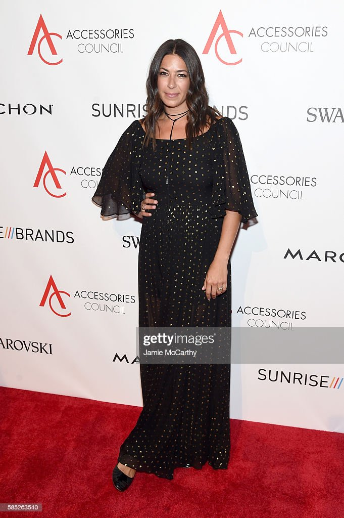 Designer Rebecca Minkoff attends the Accessories Council 20th Anniversary celebration of the ACE awards at Cipriani 42nd Street on August 2, 2016 in New York City.