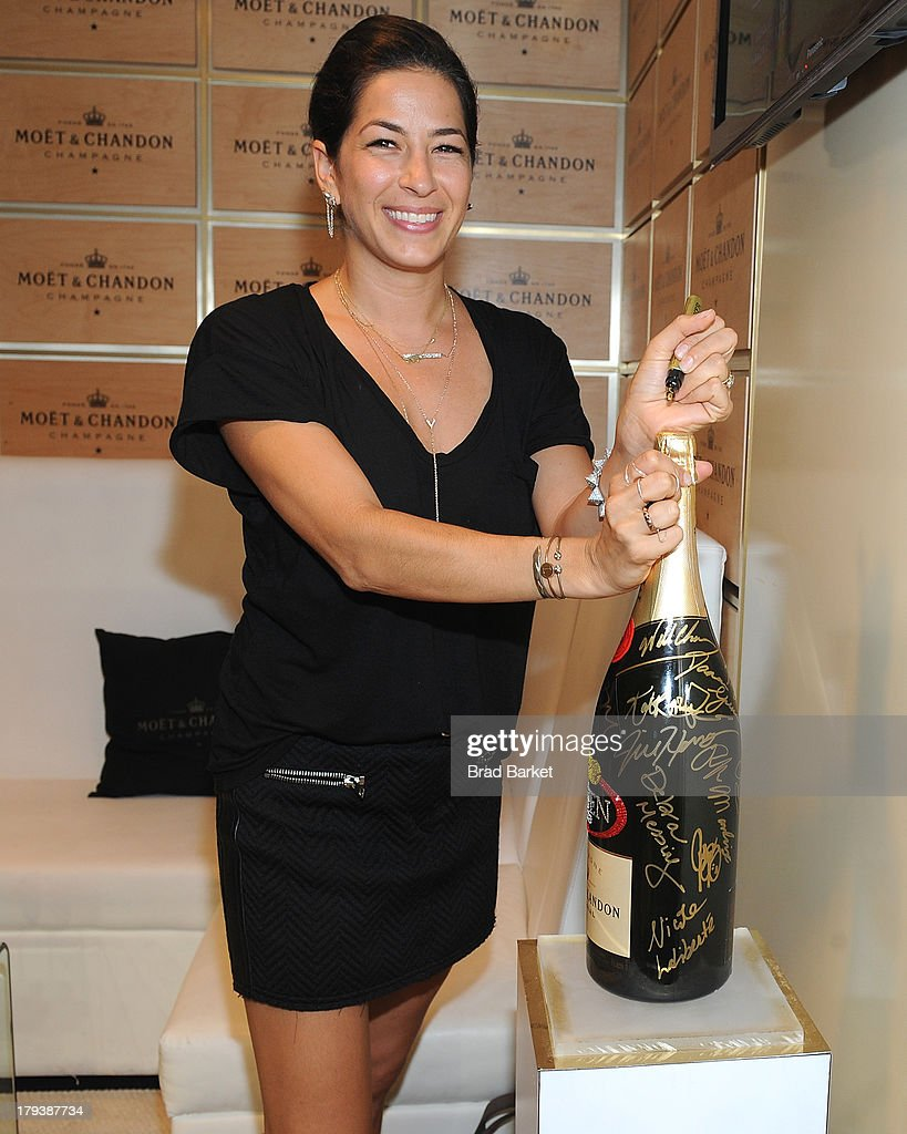 Designer Rebecca Minkoff attends the Moet & Chandon Suite at USTA Billie Jean King National Tennis Center on September 2, 2013 in New York City.
