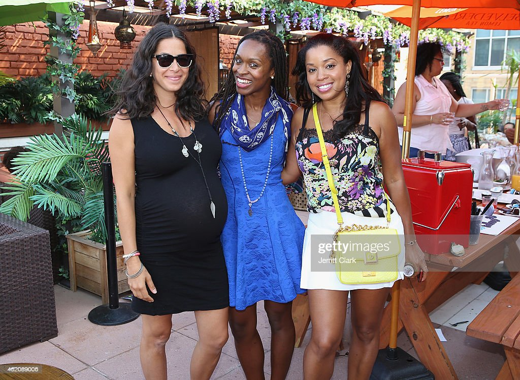 Designer Rebecca Minkoff, Latham Thomas and <a gi-track='captionPersonalityLinkClicked' href=/galleries/search?phrase=Mashonda&family=editorial&specificpeople=673897 ng-click='$event.stopPropagation()'>Mashonda</a> attend DJ Fulano's 11th birthday party at Rooftop 48 on July 12, 2014 in New York City.