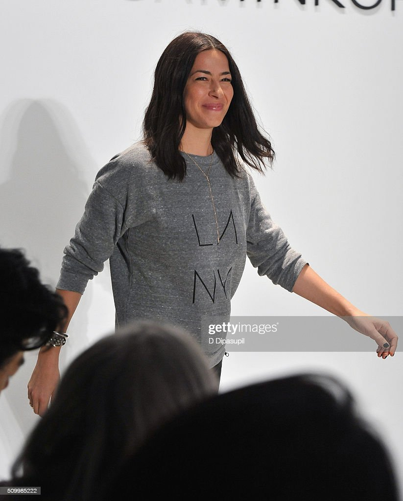 Designer, Rebecca Minkoff, walks the runway at the Rebecca Minkoff Fall 2016 fashion show during New York Fashion Week: The Shows at The Gallery, Skylight at Clarkson Sq on February 13, 2016 in New York City.
