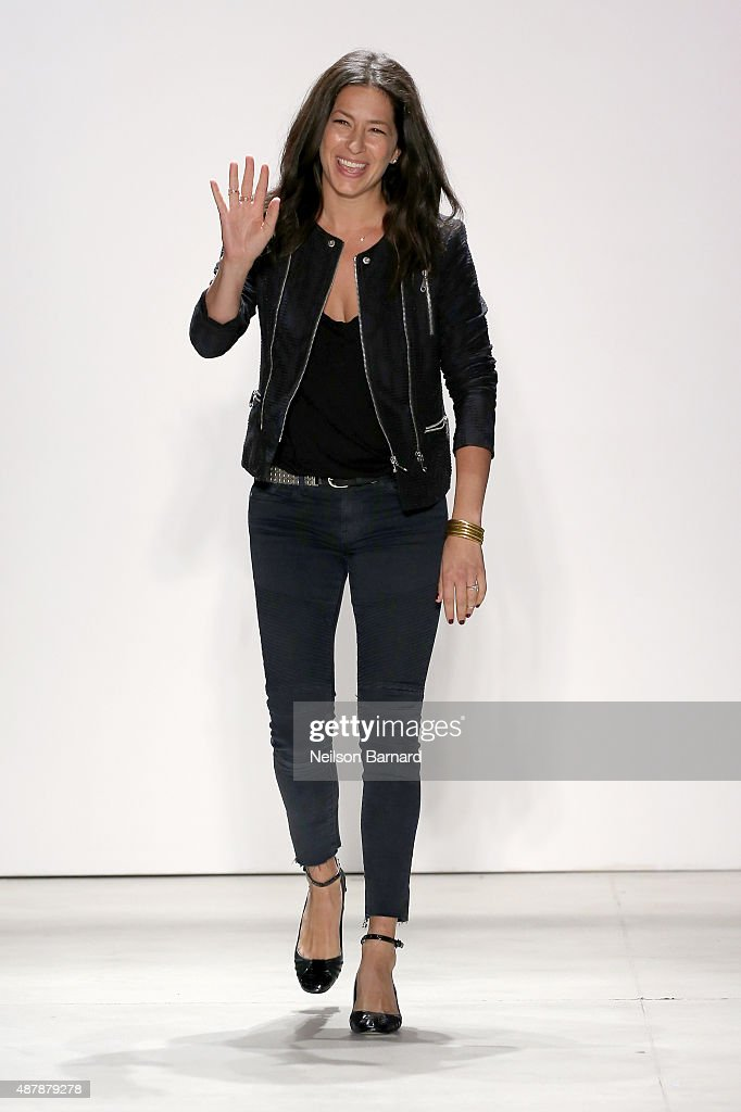 Designer Rebecca Minkoff walks the runway wearing Rebecca Minkoff Spring 2016 with TRESemme during New York Fashion Week: The Shows at The Gallery, Skylight at Clarkson Sq on September 12, 2015 in New York City.