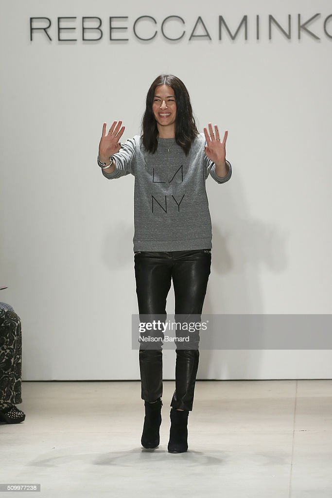 Designer, Rebecca Minkoff,l walks the runway wearing Rebecca Minkoff Fall 2016 during New York Fashion Week: The Shows at The Gallery, Skylight at Clarkson Sq on February 13, 2016 in New York City.