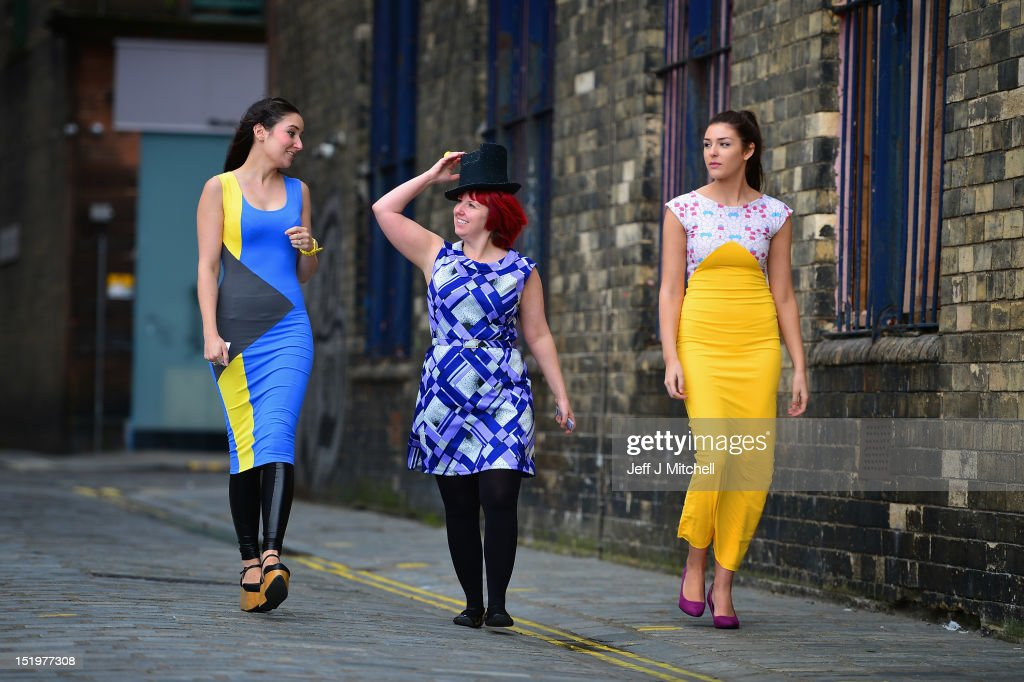 Designer Rebecca Torres, miliner Pea Cooper and model Melisa McCombe attend the launch of Fashion Foundray on September 14, 2012 in Glasgow, Scotland. Fashion Foundry, a new initiative led by Cultural Enterprise Office in association with Wasps Studios, will see 10 of Scotland's most promising fashion designers helped in developing their businesses so as to target the lucrative luxury market both at home and overseas. It was launched by MSP Cabinet Secretary for Culture Fiona Hyslop.