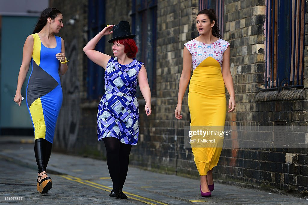 Designer Rebecca Torres, milliner Pea Cooper and model Melisa McCombe attend the launch of Fashion Foundray on September 14, 2012 in Glasgow, Scotland. Fashion Foundry, a new initiative led by Cultural Enterprise Office in association with Wasps Studios, will see 10 of Scotland's most promising fashion designers helped in developing their businesses so as to target the lucrative luxury market both at home and overseas. It was launched by MSP Cabinet Secretary for Culture Fiona Hyslop.