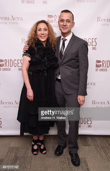 Designer Reem Acra and CFDA CEO Steven Kolb attend Bridges Of Understanding's annual 'Building Bridges' award dinner honoring designer Reem Acra with...
