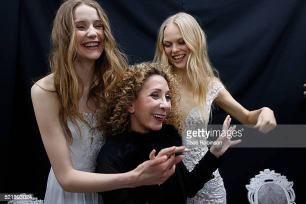 Designer Reem Acra at Mary Kay At Reem Acra Bridal S/S '17 Presentation And Backstage on April 15 2016 in New York City