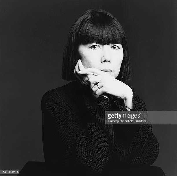 Designer Rei Kawakubo poses for Interview Magazine on November 23 in New York