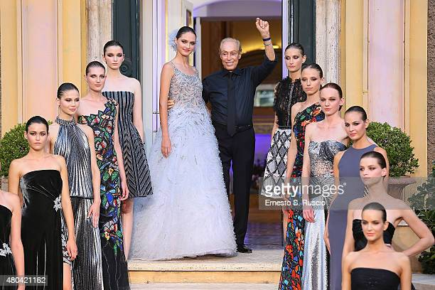 Designer Renato Balestra attends the Renato Balestra fashion show as a part of AltaRoma AltaModa Fashion Week Fall/Winter 2015/16 at Balestra's...