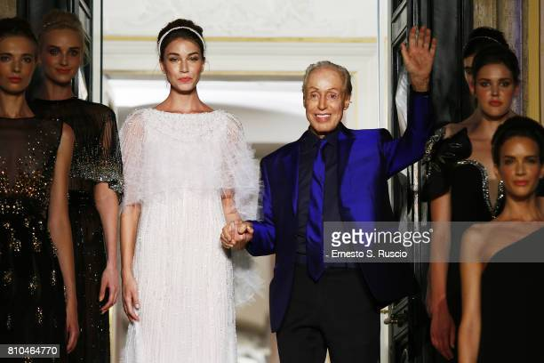 Designer Renato Balestra attends the runway at the Renato Balestra Show during Altaroma on July 7 2017 in Rome Italy