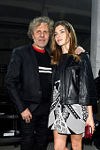 Designer Renzo Rosso and Vittoria Puccini attend the Diesel Black Gold show during Milan Fashion Week Fall/Winter 2016/17 on February 26 2016 in...