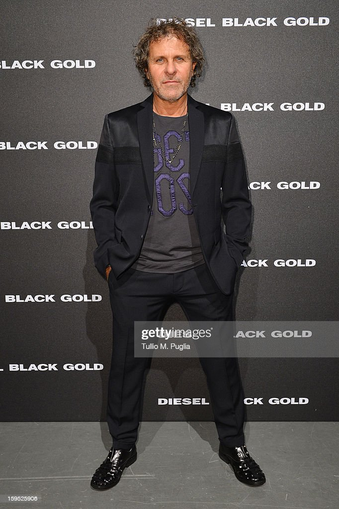 Designer Renzo Rosso attends the Diesel Black Gold show as part of Milan Fashion Week Menswear Autumn/Winter 2013 on January 15 2013 in Milan Italy