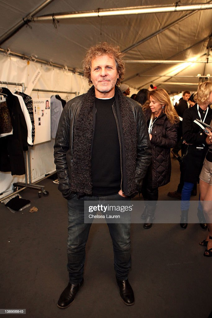 Designer Renzo Rosso poses backstage at the Diesel Black Gold Fall 2012 fashion show during MercedesBenz Fashion Week at Pier 57 on February 14 2012...