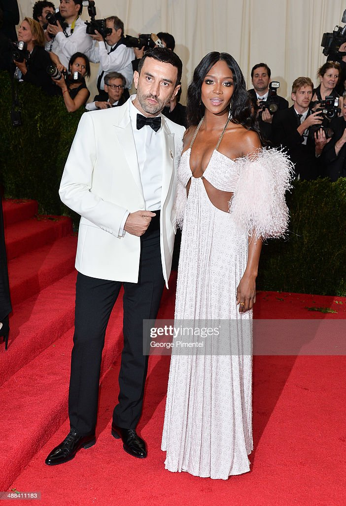 Designer Riccardo Tisci (L) and model Naomi Campbell attend the 'Charles James: Beyond Fashion' Costume Institute Gala at the Metropolitan Museum of Art on May 5, 2014 in New York City.