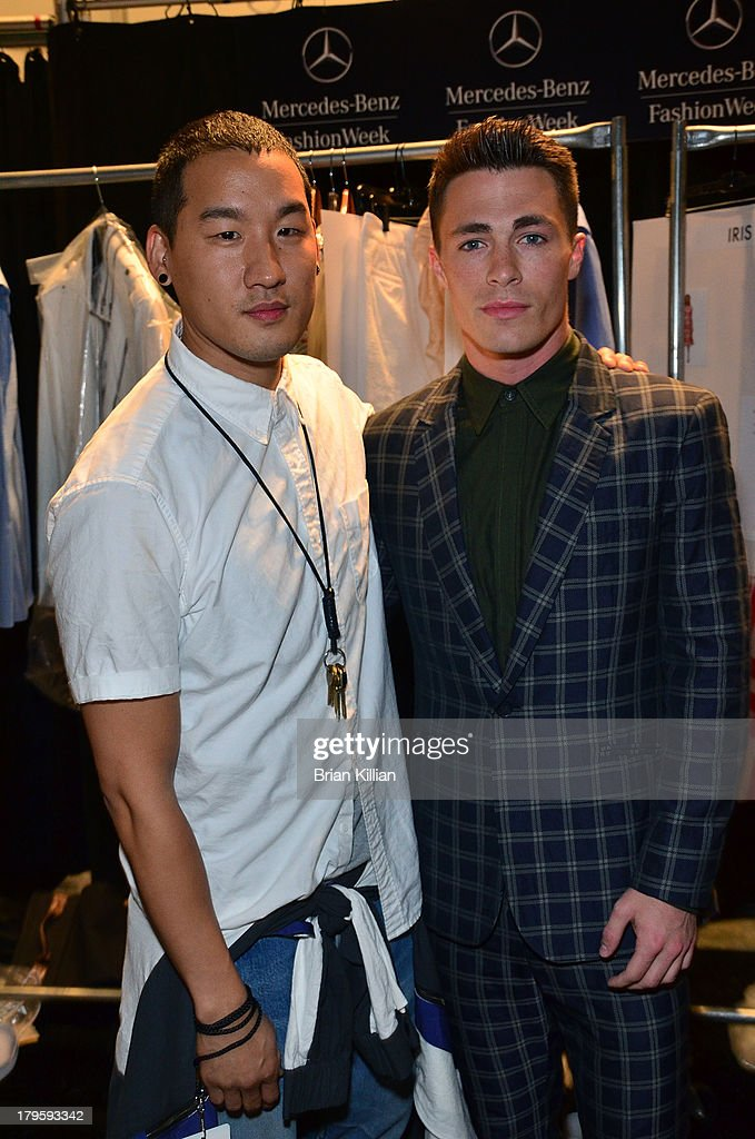 Designer Richard Chai and actor <a gi-track='captionPersonalityLinkClicked' href=/galleries/search?phrase=Colton+Haynes&family=editorial&specificpeople=4282136 ng-click='$event.stopPropagation()'>Colton Haynes</a> attend the Richard Chai -- Love & Richard Chai Men's show during Spring 2014 Mercedes-Benz Fashion Week at The Stage at Lincoln Center on September 5, 2013 in New York City.