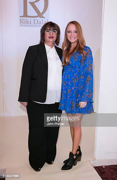 Designer Riki Dalal and Maci Bookout attend the Bridal Fashion Show at The Grosvenor House Hotel on March 6 2016 in London England
